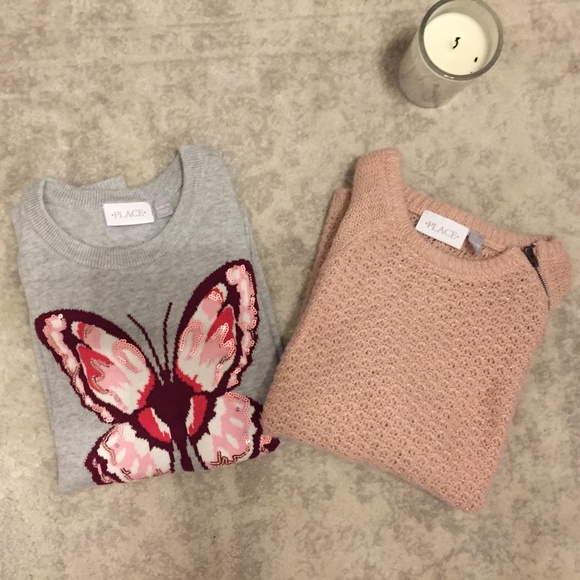 Children's Place Other - 2 Children's Place pull over Sweaters rose gold